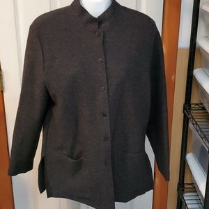 Eileen Fisher Wool Tunic Jacket